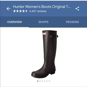 Hunter boots | classic tall black wellies in US9